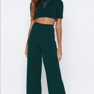 Nasty Gal! Crop top and pant set with tags!